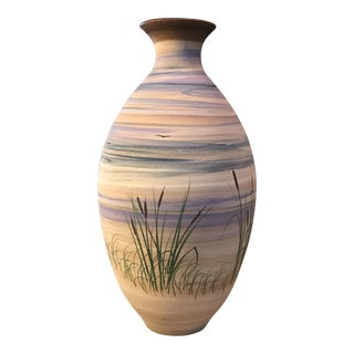 Hand Painted Pottery Vase