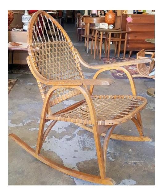 Superbe Adirondack Vermont Tubbs Snow Shoe Style Rocking Chair