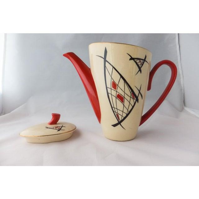 Mid-Century Modern Mid-Century Modern Atomic Tea Set For Sale - Image 3 of 7