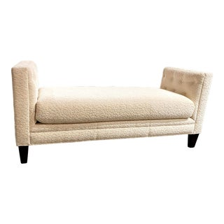 Braxton Daybed by Massoud Upholstered in White For Sale