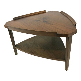 Vintage Mid Century Modern Guitar Pick Side Table by Lane For Sale