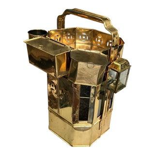 Vintage Brass and Glass Street Vender Noodle Cart For Sale