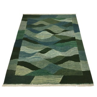 Rug & Relic Hills in Springtime Organic Modern Kilim | 3'3 X 3'9 For Sale