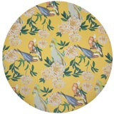 """Image of Nicolette Mayer Peony Inspira Goldenrod 16"""" Round Pebble Placemats, Set of 4 For Sale"""