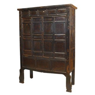 Chinese Black Lacquered Cabinet For Sale
