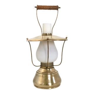Italian Lantern Table Lamp, 1950s For Sale