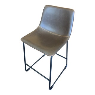 Modern Leather Glove Bar Stool For Sale