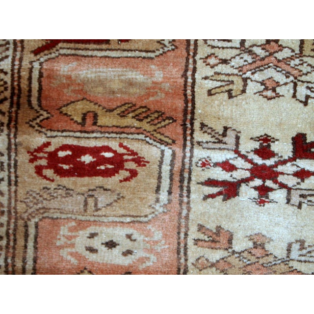 "1940s Vintage Turkish Oushak Handmade Runner - 2'5"" x 8' For Sale In New York - Image 6 of 10"