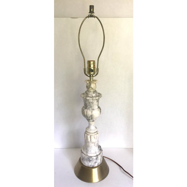Early 20th Century Vintage Carved Alabaster Marble Lamp For Sale - Image 5 of 5