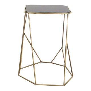 Vintage Domus Collection Coffee Table Customizable Glass and Brass For Sale