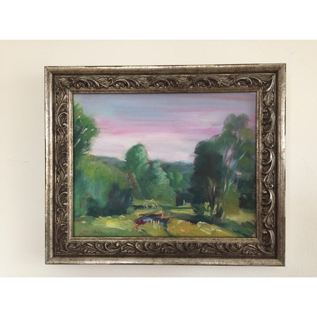 Missouri Ozark Countryside Impressionistic Plein Air Painting For Sale - Image 4 of 8