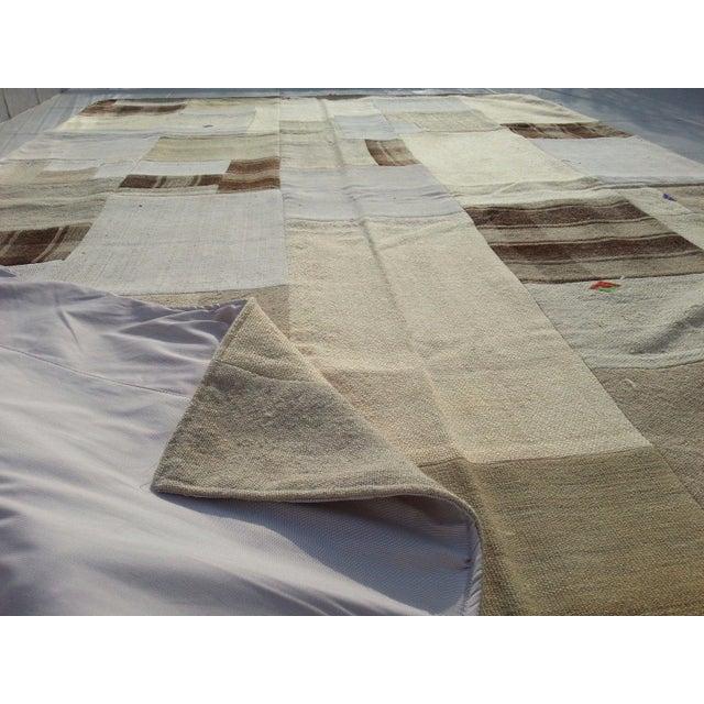 "Tribal Naturel Patchwork Rug -- 5' x 7'5"" For Sale In Austin - Image 6 of 6"
