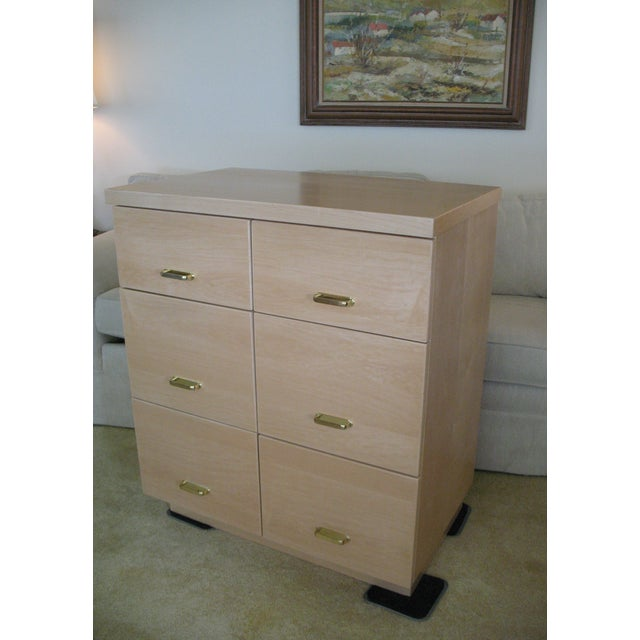 Maple Cabinet & Hutch - Image 4 of 8