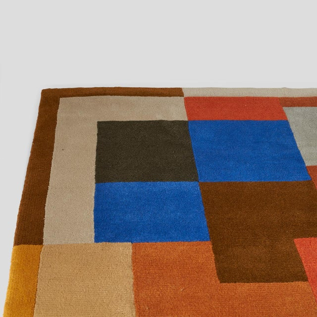 """1970s """"Labrinthe"""" Wool Rug by Sonia Delaunay For Sale - Image 5 of 10"""