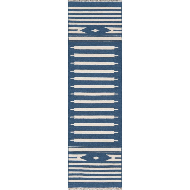 """2010s Erin Gates by Momeni Thompson Billings Denim Hand Woven Wool Area Rug - 3'6"""" X 5'6"""" For Sale - Image 5 of 7"""