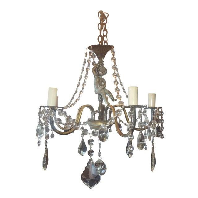 Antique Bronze Cherub Chandelier - Antique Bronze Cherub Chandelier Chairish