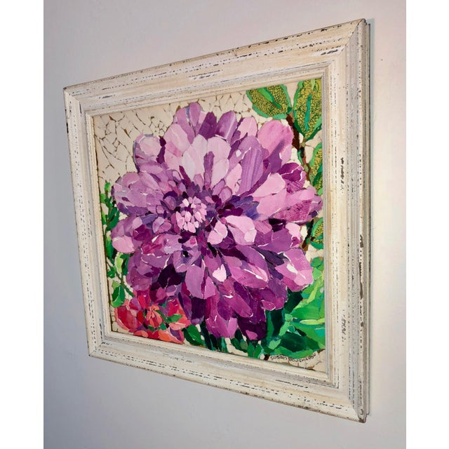 Contemporary Purple Peony Collage For Sale - Image 4 of 6