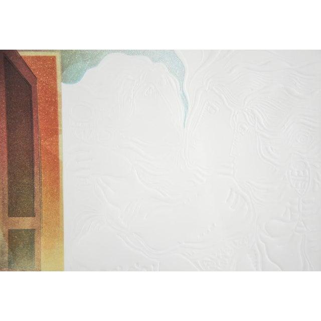 "Original Sunol Alvar Embossed Lithograph ""La Diligence and La Folie"" - Image 6 of 11"