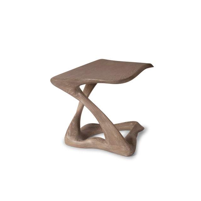 Amorph Tryst Side Table, Gray Custom Stained Available is different finishes and sizes. Lead Time: 6 weeks