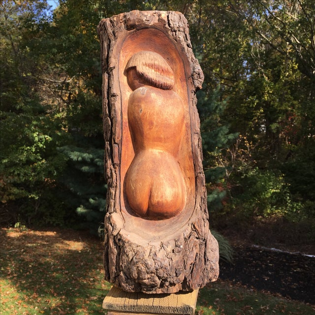 1970s Carved Woman Tiki Sculpture - Image 2 of 6