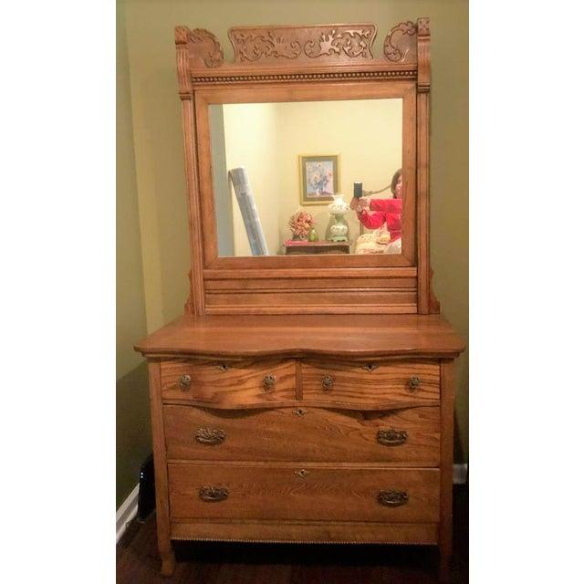 Antique Oak Dresser Mirror Chairish