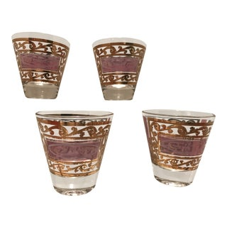 1950s Vintage Fred Press Lowball Double Shot Cocktail Glasses - Set of 4 For Sale