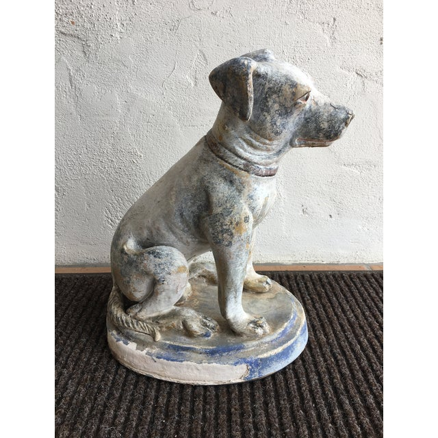 Vintage Mid Century Dog Statue For Sale - Image 10 of 10