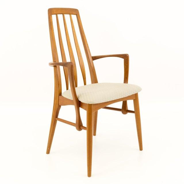 Vintage Mid Century Niels Koefoed Hornslet Danish Teak Eva Dining Chairs - Set of 6 For Sale - Image 9 of 13