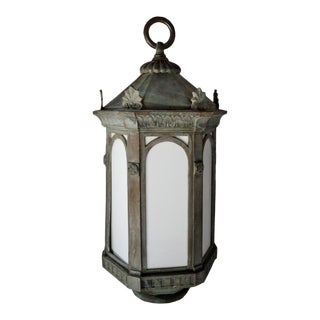 20th Century English Traditional Hanging Copper Lantern For Sale