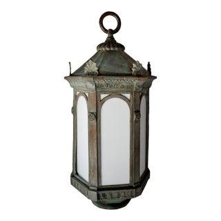 Lantern - English Hanging Copper Lantern For Sale