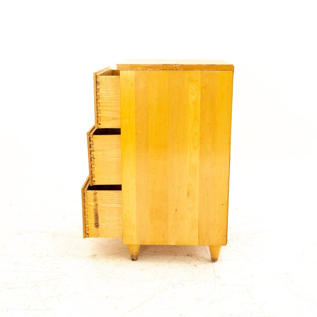 Paul McCobb Style Mid Century 3 Drawer Nightstand For Sale In Chicago - Image 6 of 9