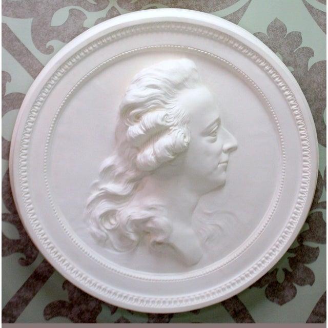 "Portrait Medallion after sculptor Sergel's casting of King Gustav iii of Sweden [1746-1792]. Made of plaster. Heavy. 26""..."
