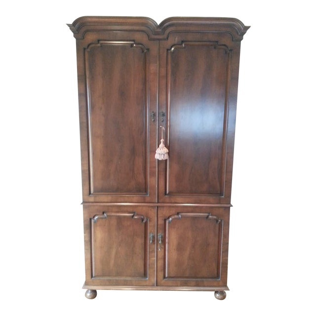 Smith and Watson Yew Wood Custom Made Armoire For Sale