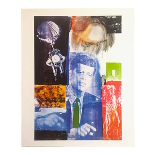 "Robert Rauschenberg Original Lithograph Print Poster "" Retroactive 1 "" 1964 For Sale"