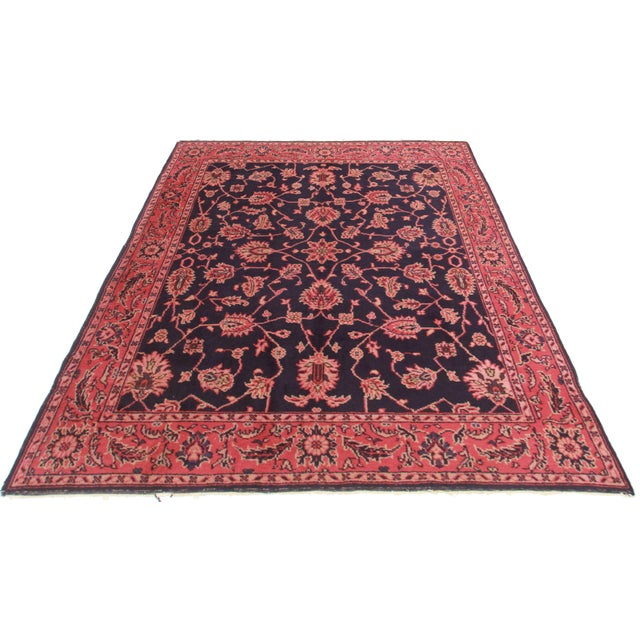 Hand Knotted Wool Turkish Sparta Rug. Floral design.