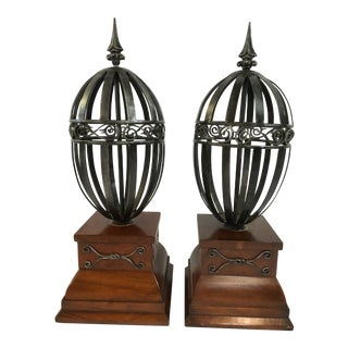 Vintage Traditional Architectural Finials - a Pair For Sale