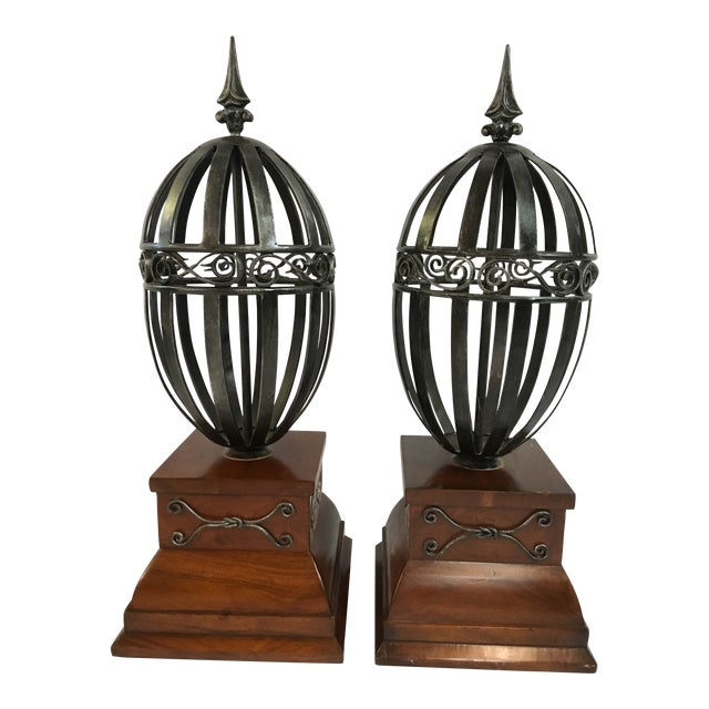 Vintage Traditional Architectural Finials A Pair