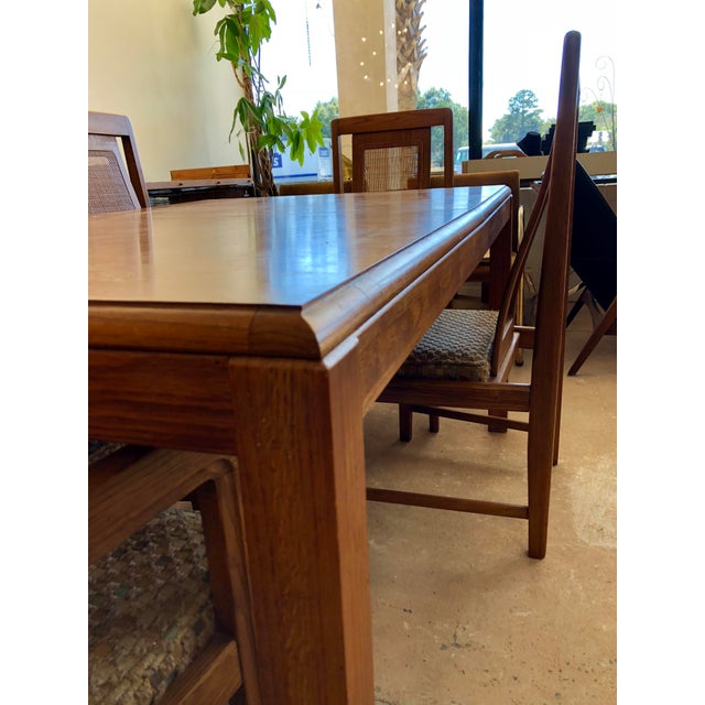 1970s 1970s Sears & Roebuck Oak Dining Table with 6 Chairs For Sale - Image 5 of 10