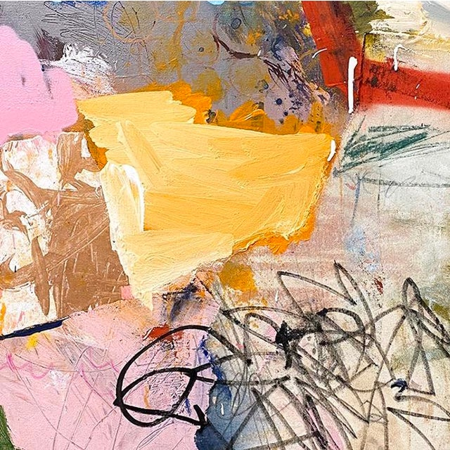 Abstract Lesley Grainger 'On a Roll' Original Abstract Painting For Sale - Image 3 of 4