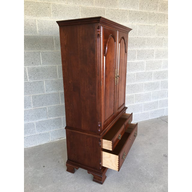Brown Pennsylvania House Cherry Chippendale Style Armoire For Sale - Image 8 of 13