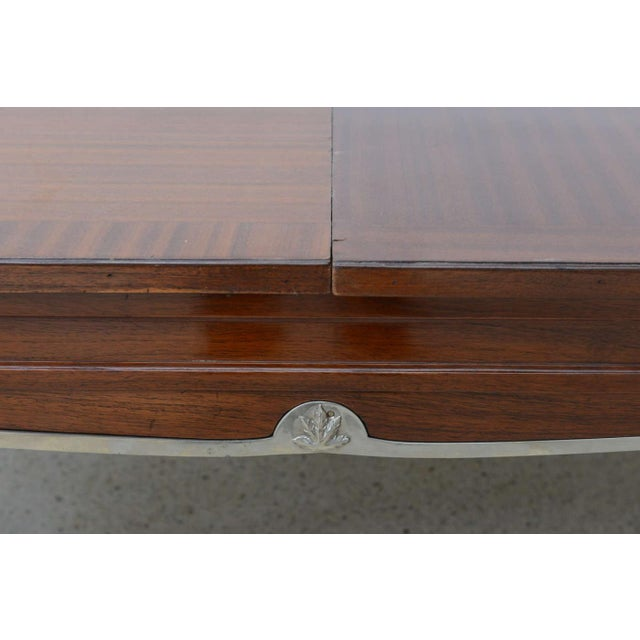 1940s Late Art Deco Palisander Extension Dining Table by Jean Pascaud For Sale - Image 5 of 8