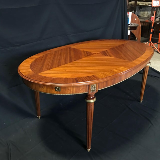 Mid 19th Century Louis XVI Style Oval Fruitwood Dining Table For Sale - Image 10 of 12