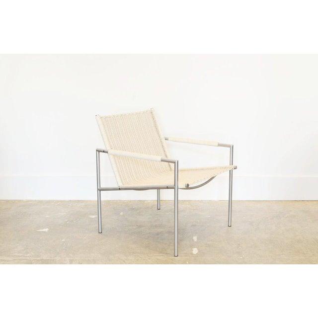 Spectrum Limited Martin Visser Easy Chair, White Woven Rattan 1960 For Sale - Image 4 of 4