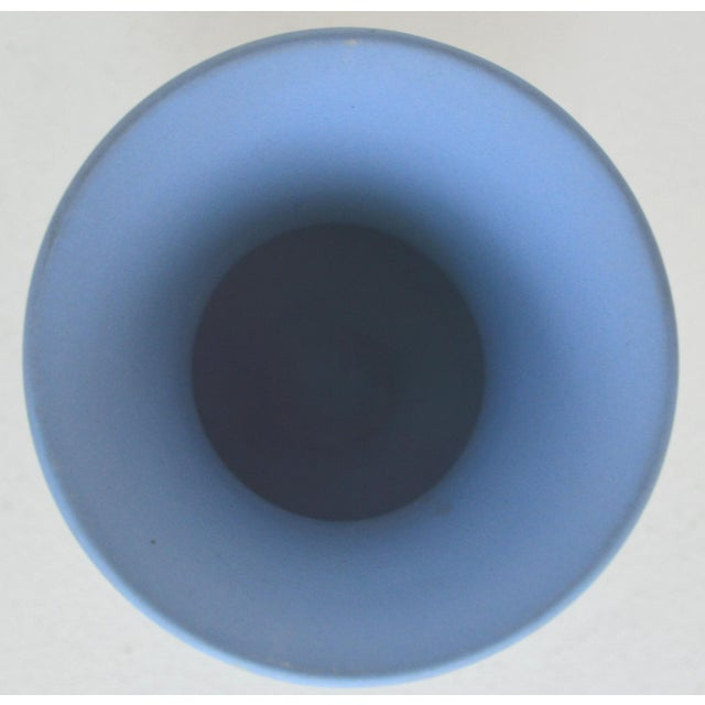 Ceramic Antique Wedgwood Jasperware Blue & White Urn Vase England Miniature For Sale - Image 7 of 11