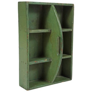 Small Green Hanging Shelf/Tool Box For Sale