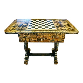 Chinese Export Pembroke Game Table For Sale