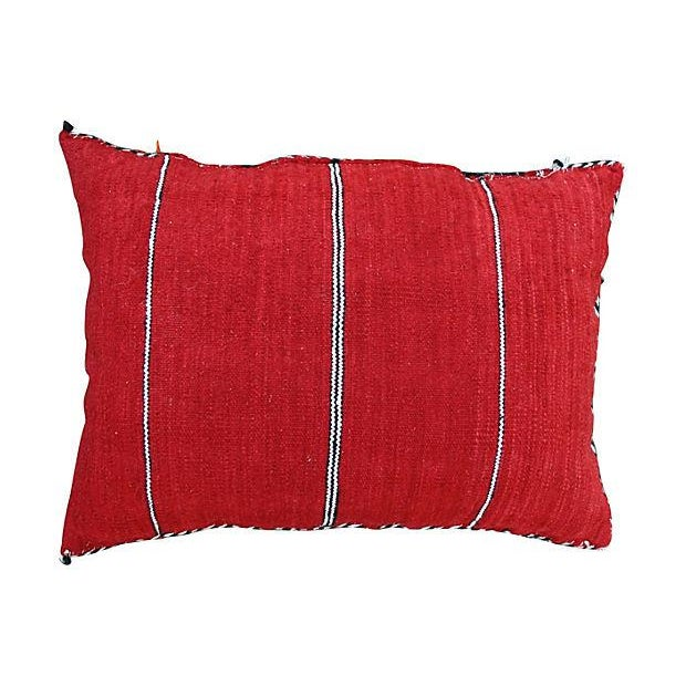 Diamonds Striped Moroccan Berber Pillow - Image 2 of 2