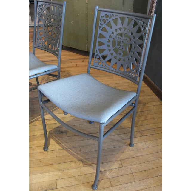 Vintage Arthur Umanoff Mayan Sun Dining Set- 7 Pieces For Sale In New York - Image 6 of 9