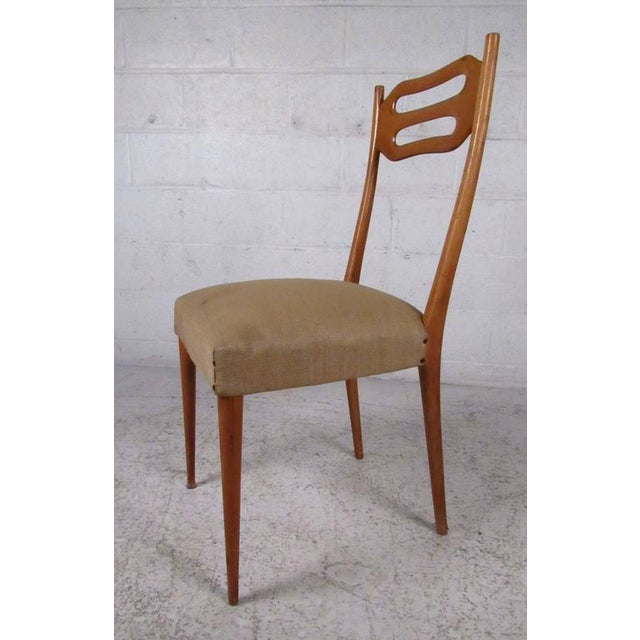 Sculptural Italian Modern Dining Chairs - Set of 6 - Image 4 of 10