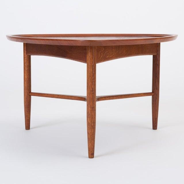 "Scandinavian Modern Teak ""Guitar Pick"" Side Table For Sale - Image 9 of 13"
